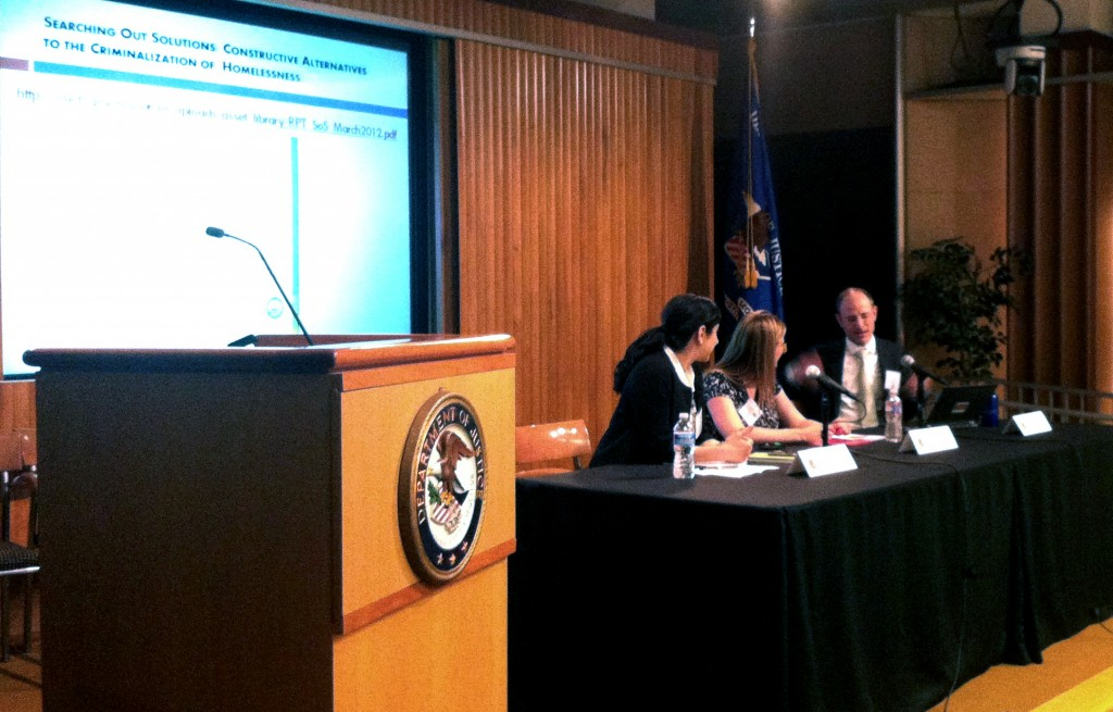Eric Tars speaks at the Department of Justice on 04-10-2014